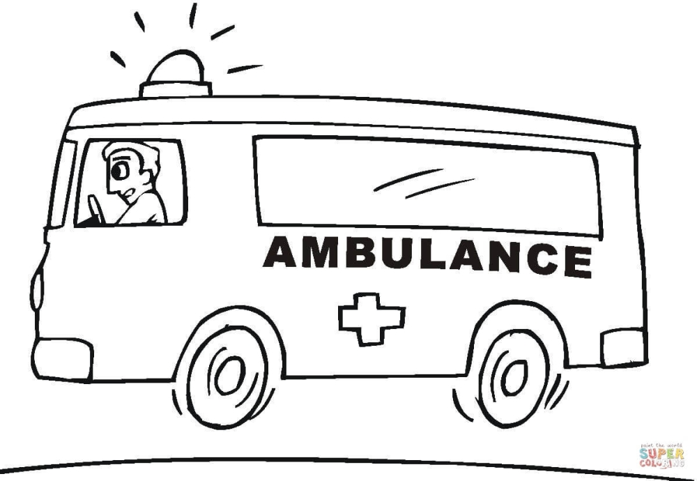 Fresh New Ems Coloring Pages Ambulance Page Free Printable