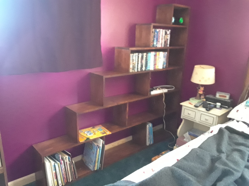 bookcase on wall 0320
