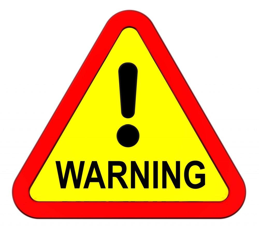 warning sign 0320
